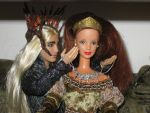 Thranduil and his beloved wife by Menkhar