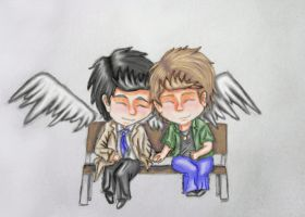 Destiel by jajafilm