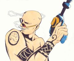 Spider Jerusalem and his BDG by koziloverryo