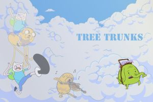 Tree Trunks by XTsukiXhimeX