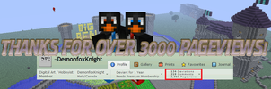 THANKS FOR 3000 PAGEVIEWS! by DemonfoxKnight