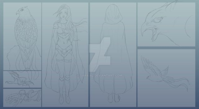 Contest entry in progress -lineart- by Sara-A2
