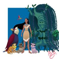 Pocahontas Pokemon trainer by TheCrownedHeart