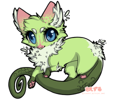 Watermellon Fluff Dragon Adopt! [closed] by toastermadness