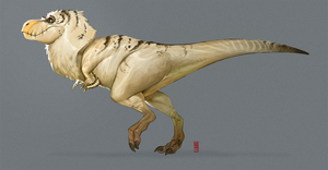 White T-Rex by CamaraSketch