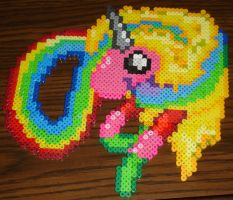 Lady Rainicorn Perler Bead by Blackshadowbutterfly