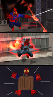 Ultimate SpiderPyro(Featuring me As Living Laser) by wolfthepredator
