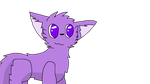 Something? I dunno I just drew a purple cat by TaniPoniBoi