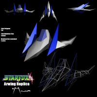 Arwing Replica Low Poly by MaJoRoesch