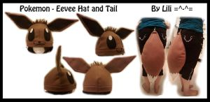 1st Gen - Eevee Hat and Tail by LiliNeko
