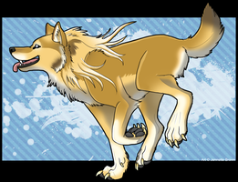 Goldenwolf by sugarpoultry