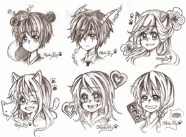 Floating Heads Commish #2 by OtakuPup