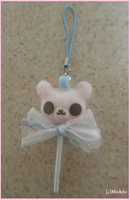 Bear-Pop Keychain/Strap by Monkiki62