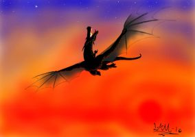 Dragon In the Sky by LamLArts