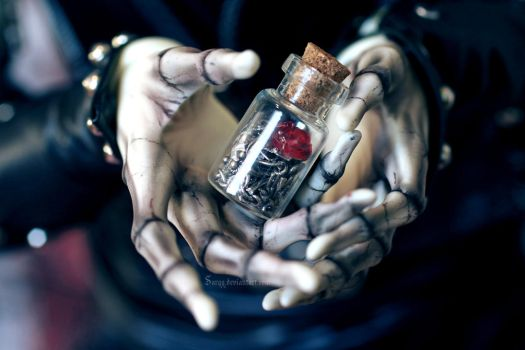 Bottle of Pain by Sarqq