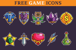 Basic Game Icons Set by pixaroma