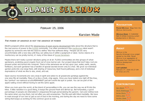 Planet SELinux Site Template by pookstar