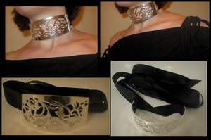 Roses of Silver - Choker by Lai-Tut