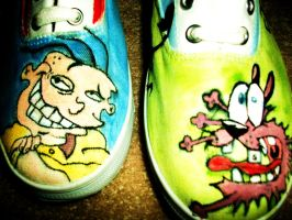 Ed Edd n courage the shoe by Krizteeanity