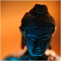 Blue Buddha head by MissUmlaut
