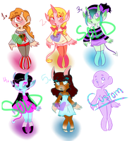 Monsters Girls by SpaceyJessi