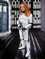 Amy Pond On the Death Star by Mathieustern