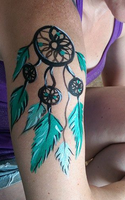 Dream Catcher Body Paint by Cheekydesignz