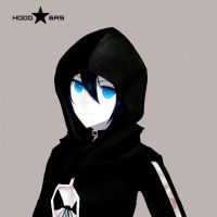 Black Rock shooter Hoodie by Leti999