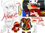 {SKETCHES} Akane Captain of the Cherry Sea by Immortally--Twined