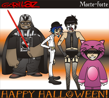 Gorillaz: HAPPY HALLOWEEN. by morte-forte