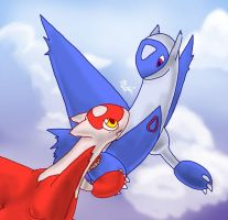 Latios and Latias by mewgal