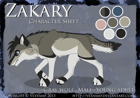 Character Sheet -Zakary- by VexVamp