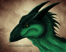 Forest Drake Head by 8TwilightAngel8