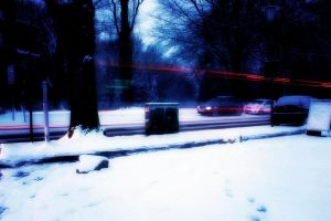 Winter traffic (dreamy) by Cthulhu1976
