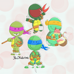 TMNT Peanuts style by FoxKids1302
