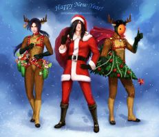 Uchiha clan _ Happy New Year!! by Zetsuai89