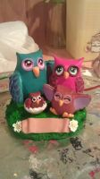 hoo family by ColleensCritters