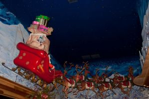 Santa Claus with Reindeer 2 by FairieGoodMother