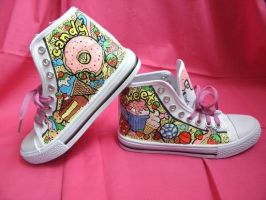 DIY: Sweet Candy Shoes.. ^^ by LunaDelilah