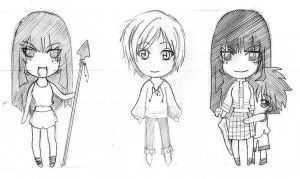 chibi x3 and a half by 2inK
