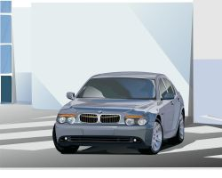 BMW 7 Series Vector by Furi0uS
