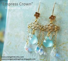 Empress Crown earrings by littleorangetree