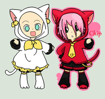 .::Chippy Cats Collab::. by abbyfirecat
