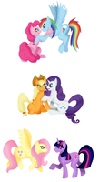 My Little OTP - Mane 6 by NastyLittleCuss