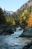 Fall Creek River by GreenEyezz-stock