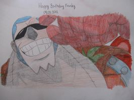 Happy B-day Franky - colored by Zebra1994