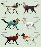Beauties and Beasts - Dog adoptables {CLOSED} by SmolderBone