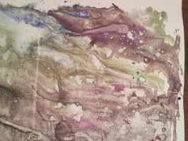 The Cave Monotype Closeup by LilithVallin