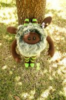 Green and brown huggle 4 by quirkandbramble