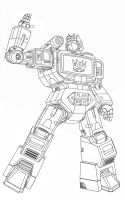 Soundwave Lineart by hansime